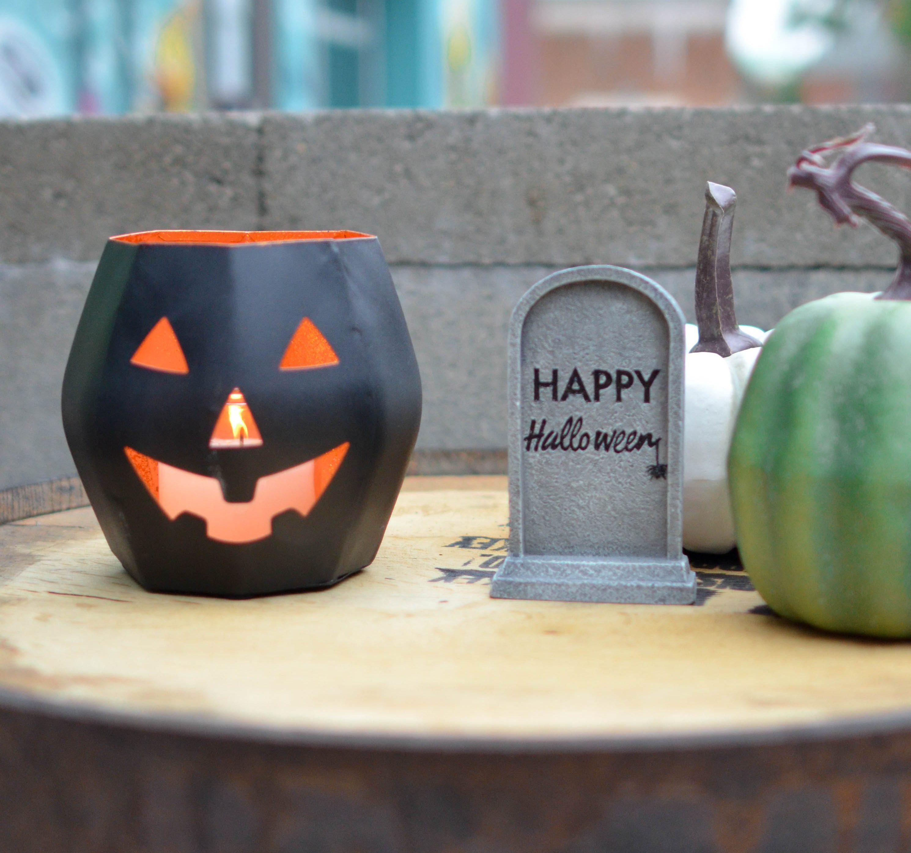 calabaza hecha en casa de halloween