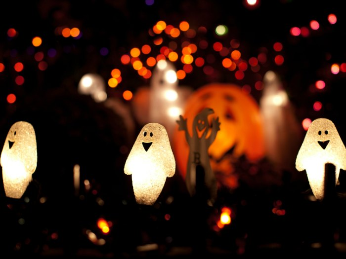 decoracion de luces de fantasmas