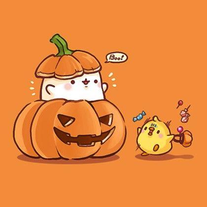 dibujo tierno de halloween