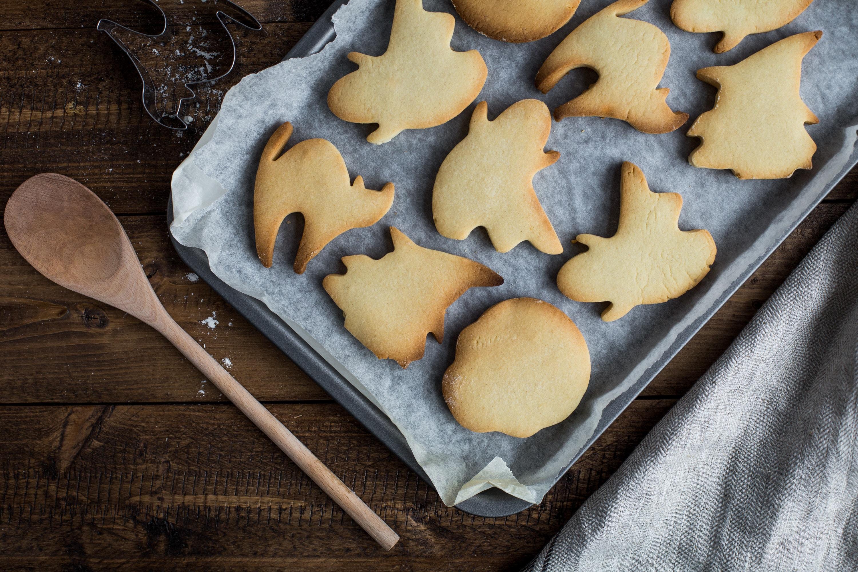 galletas con forma de fantasmas