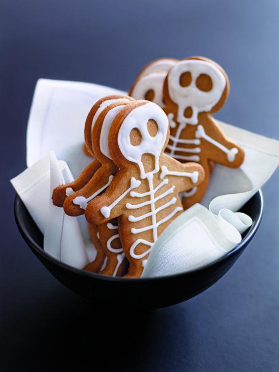 galletas con forma de esqueleto