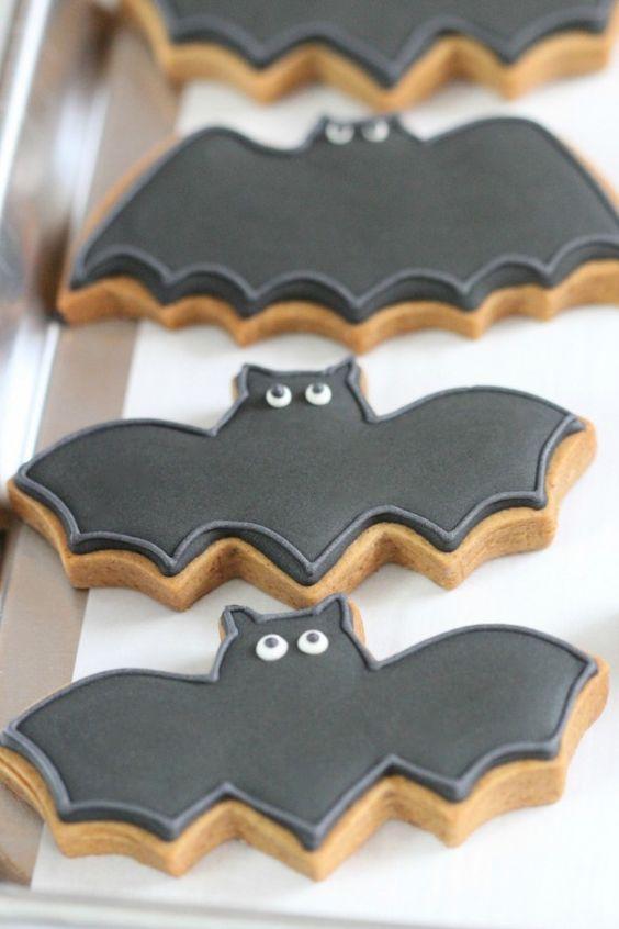galletas con forma de murcielagos