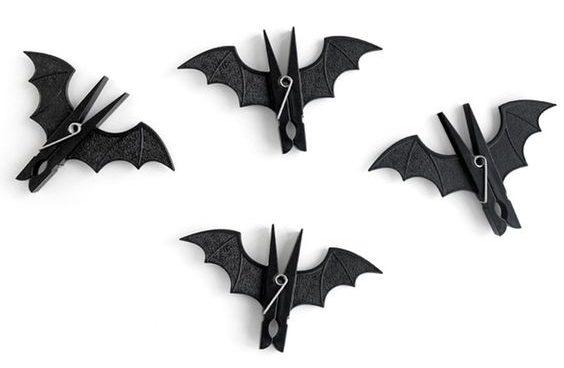 murciélagos hechos con ganchos