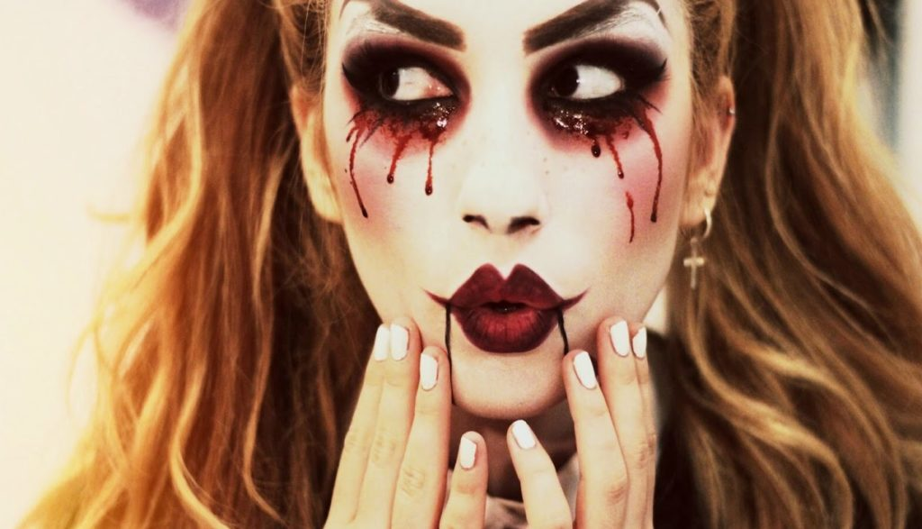 la novia asesina maquillaje
