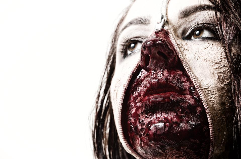 maquillaje sangriento dos pieles
