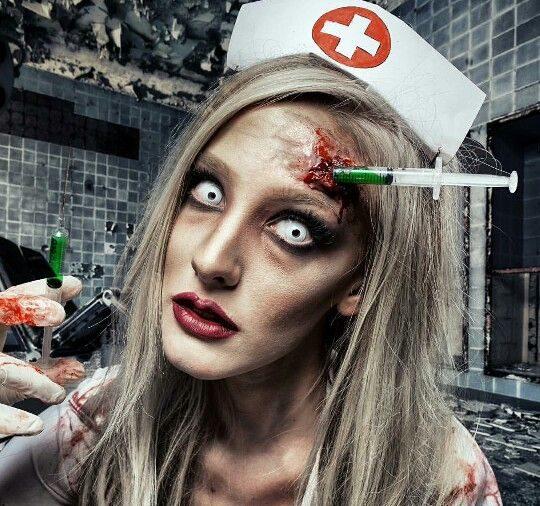 maquillaje de enfermera malvada