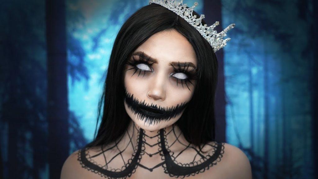 maquillaje de novia halloween