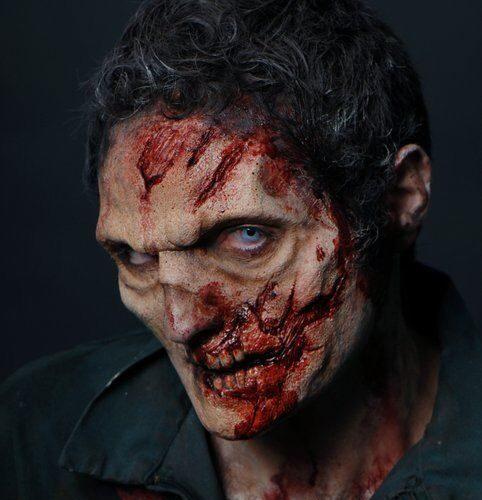maquillaje de muerto viviente