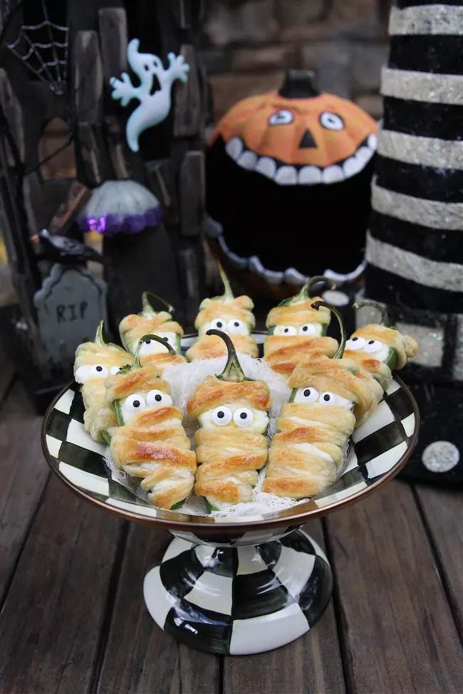 plato de entrada para halloween