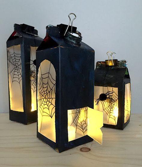 lamparas hechas en casa de halloween