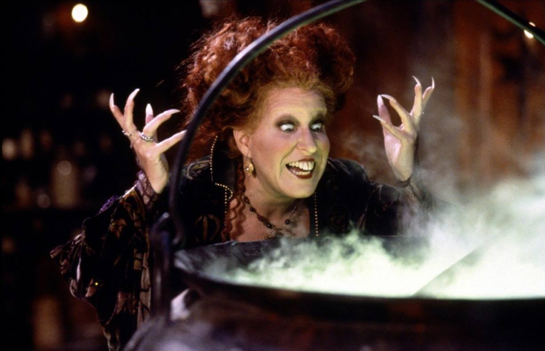 brujas y caldero de hechizos