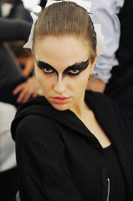 maquillaje del cisne negro