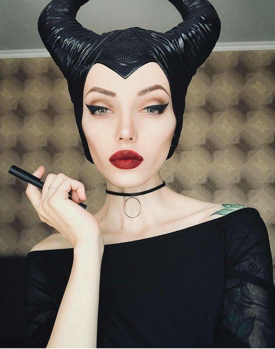 maquillaje del personaje malefica