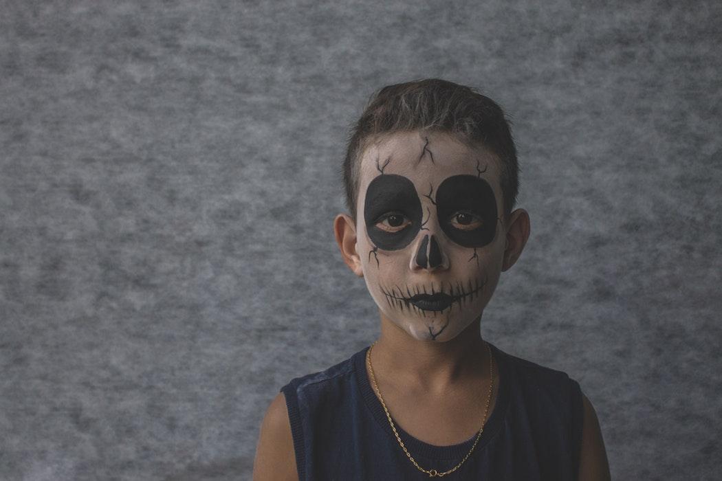 maquillaje de calavera de halloween
