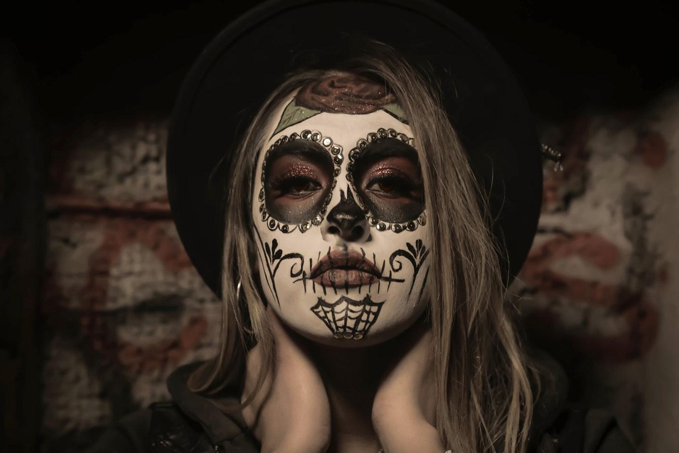 calavera de halloween maquillaje