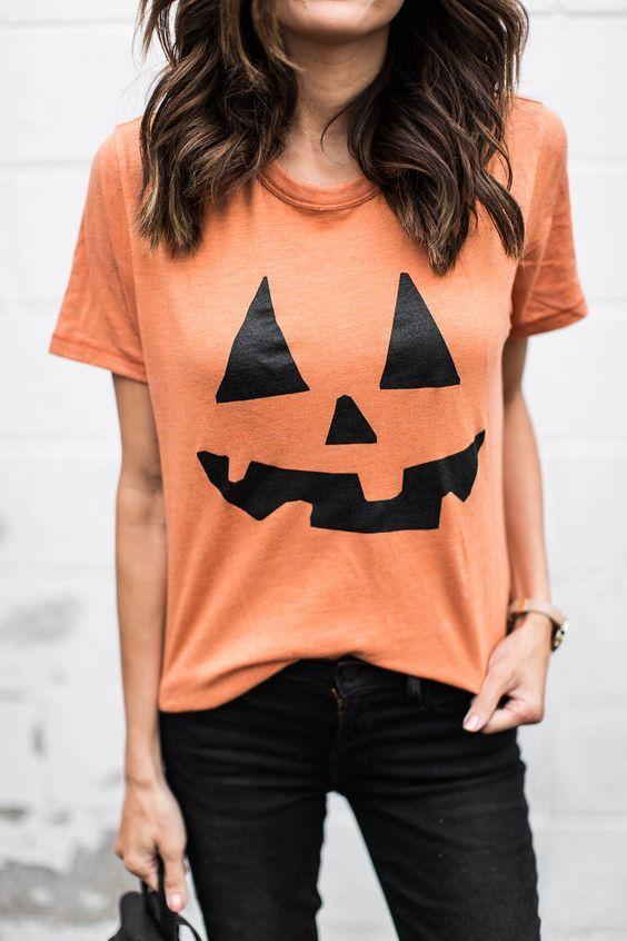 camiseta de halloween de calabaza