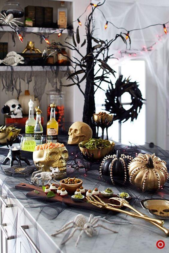 decoracion de cena halloween