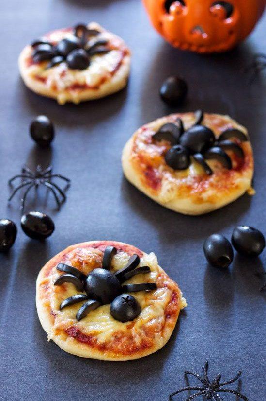 pizzas de halloween de entrada