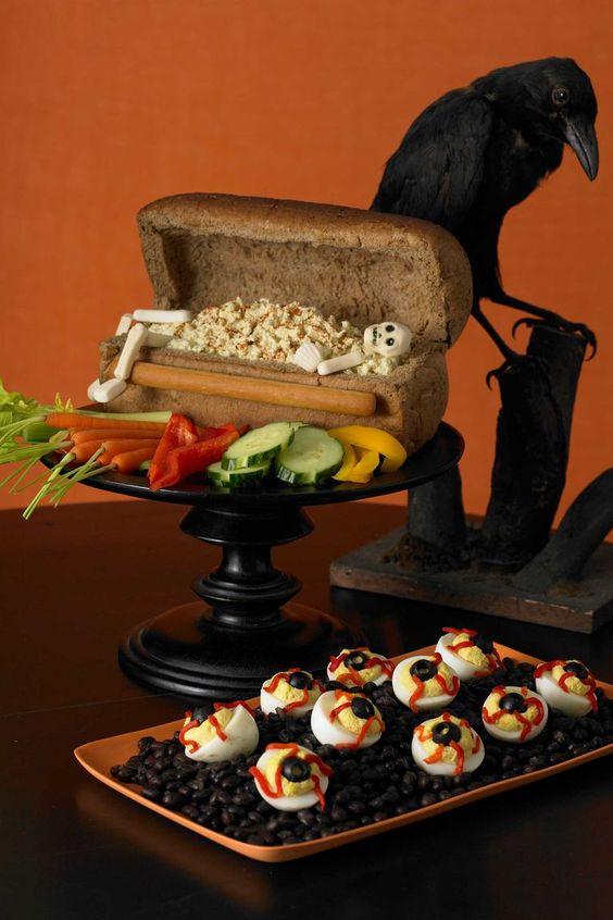 decoracion de cena de halloween