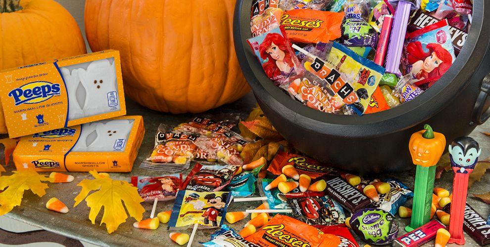 presentacion de golosinas de halloween