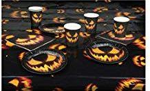 platos y vasos de halloween