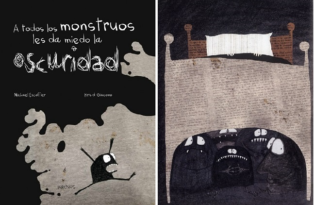 todos los monstruos les da miedo la oscuridad