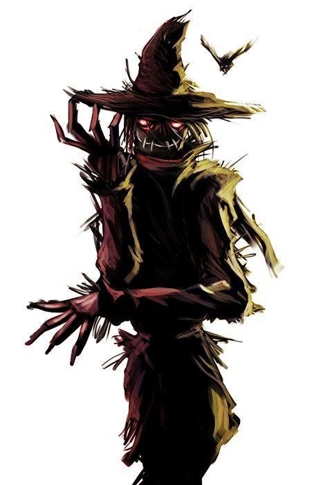 espantapájaros de halloween ilustracion