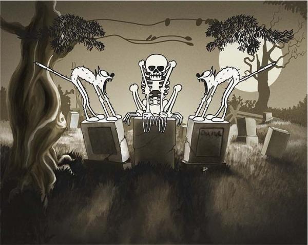 esqueleto dibujos animados