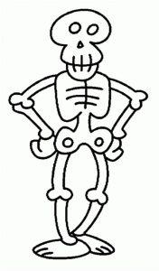 dibujo facil de esqueleto