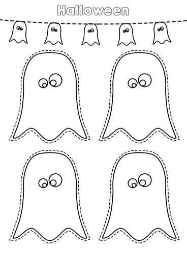 fantasmas halloween para imprimir