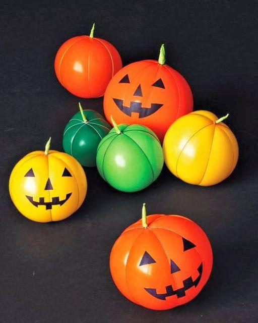 globos de halloween calabazas