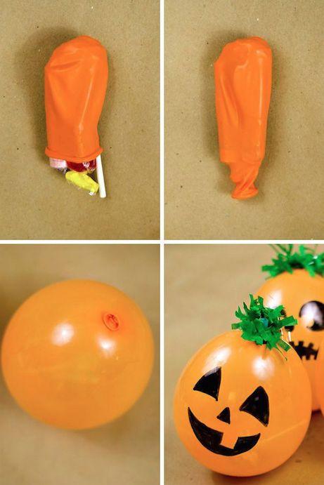 globos de halloween con chuches