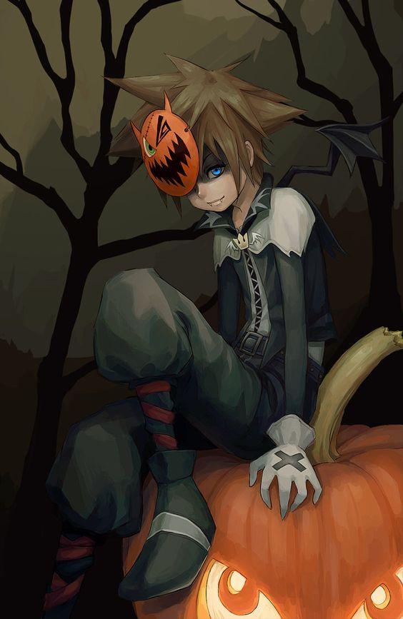 cuadro de anime de halloween