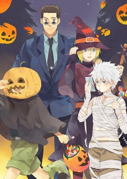 personajes de anime de halloween