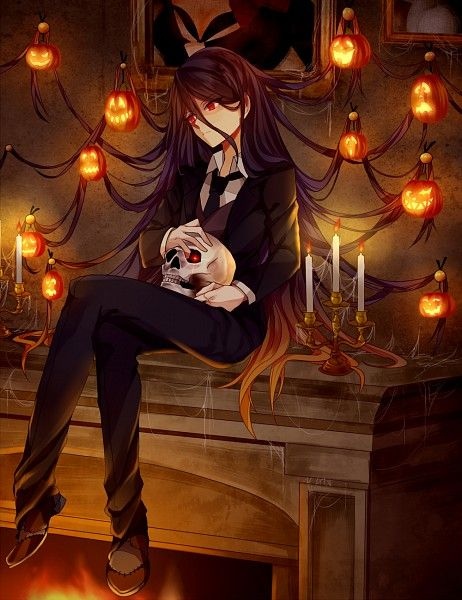 anime de halloween ilustracion