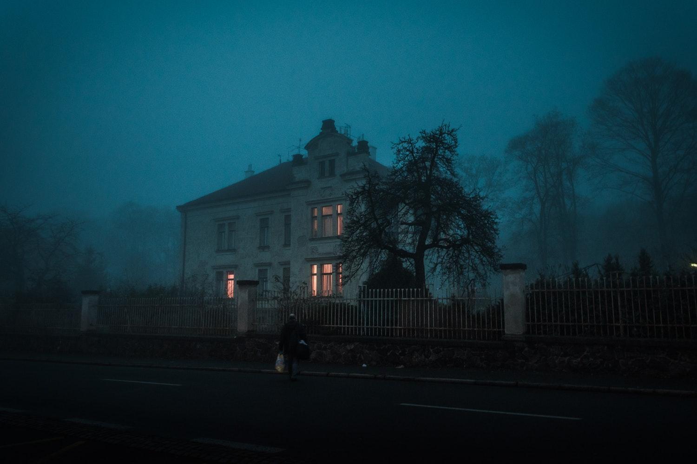 casa en halloween en america