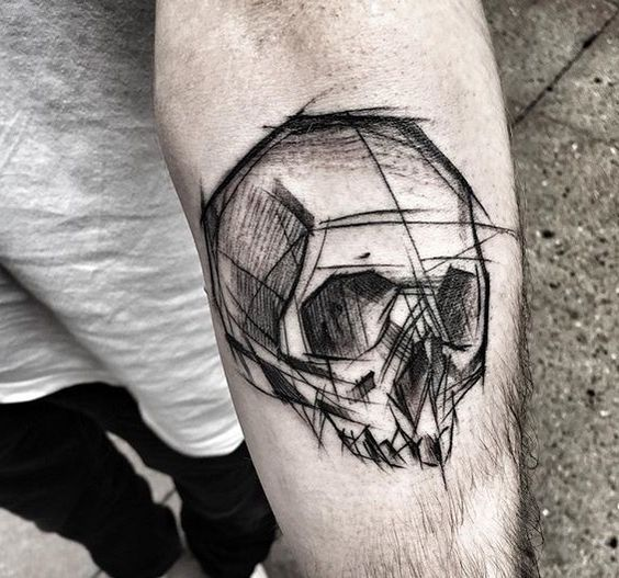 tattoo de halloween de calavera