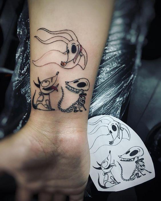 tattoo de halloween de perro