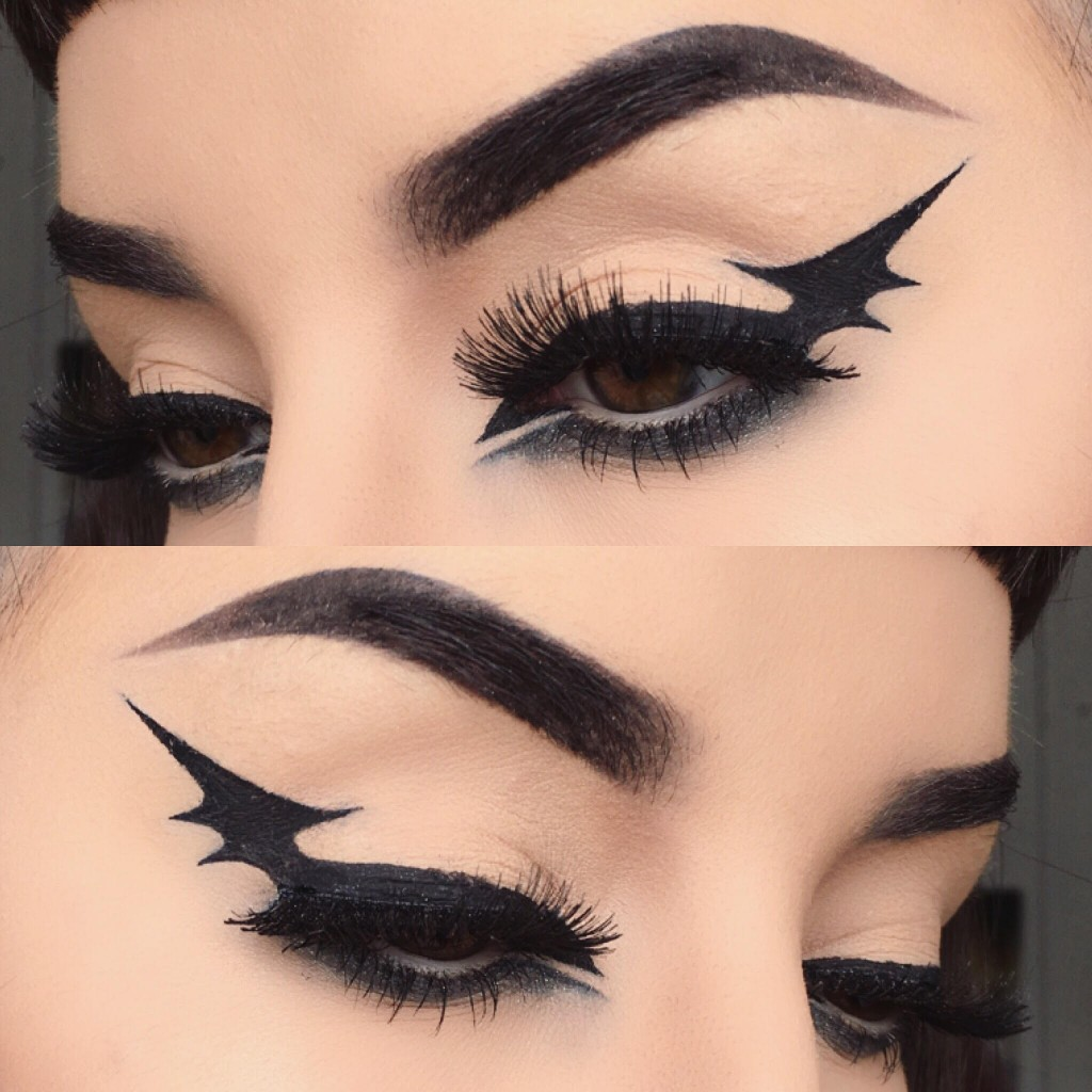 maquillaje minimalista de murcielago