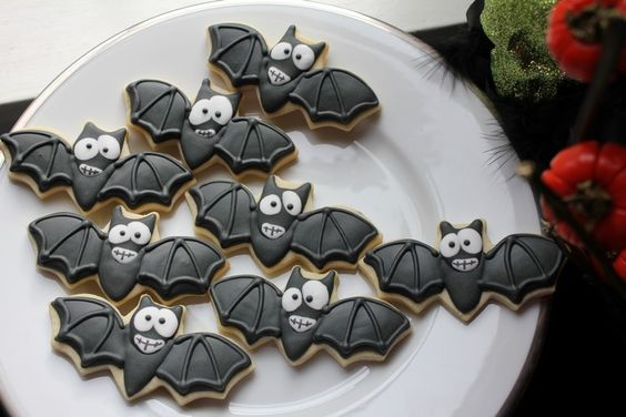 galletas de murcielagos halloween