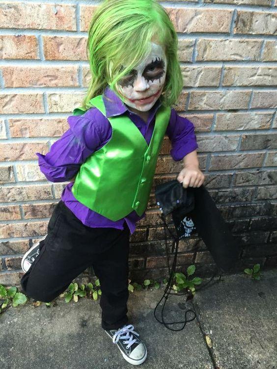 disfraz de niño de payaso de halloween