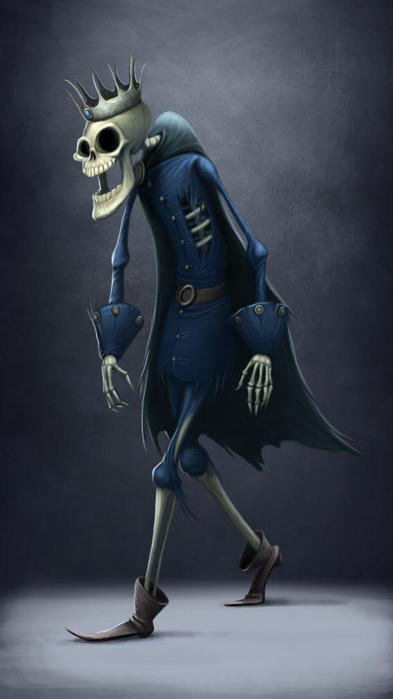 personaje de halloween el esqueleto