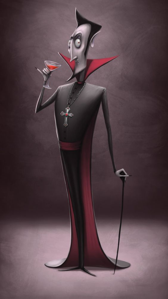 personaje de halloween vampiro
