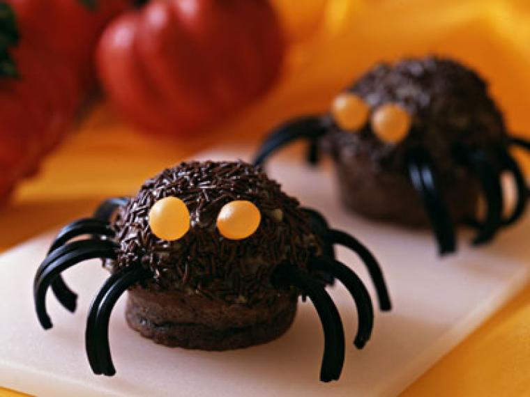 muffins de arañas