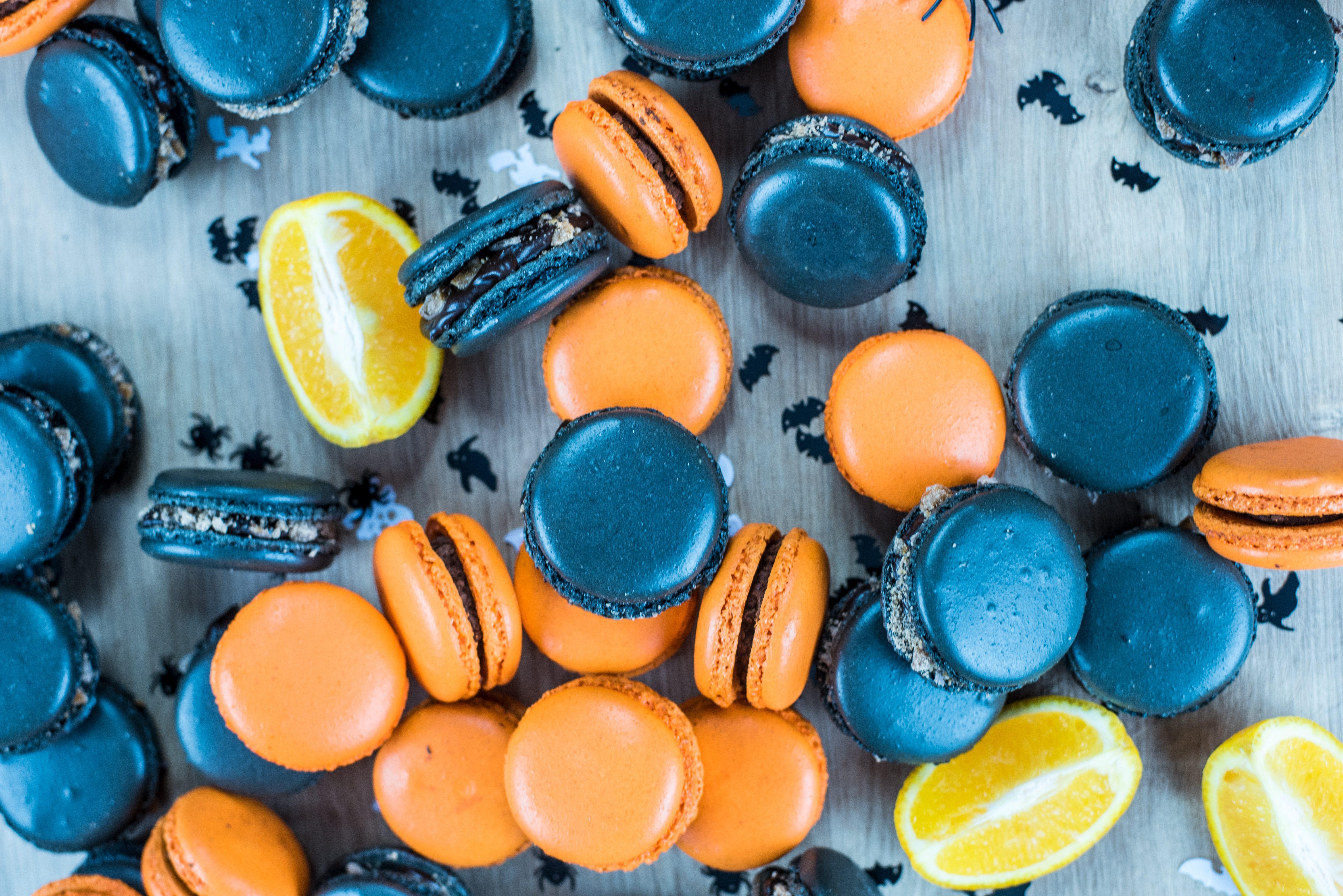 macarons para halloween