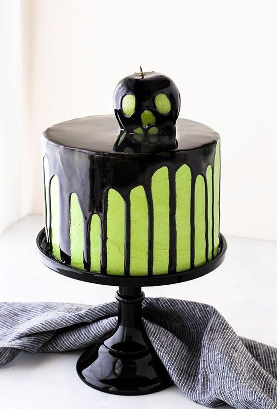 tarta decorada de halloween