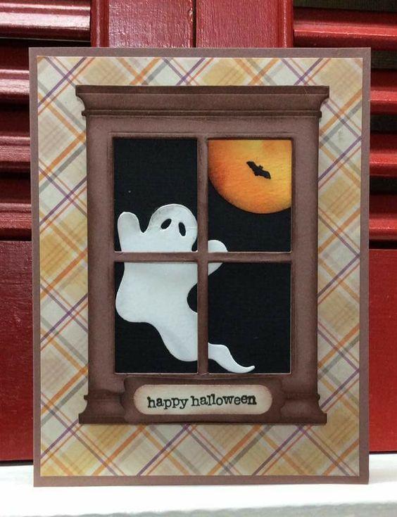 tarjeta de halloween de fantasmita