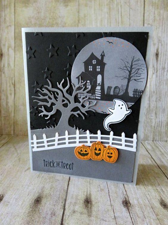tarjeta de halloween de fantasma