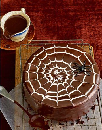 tarta decorada de chocolate