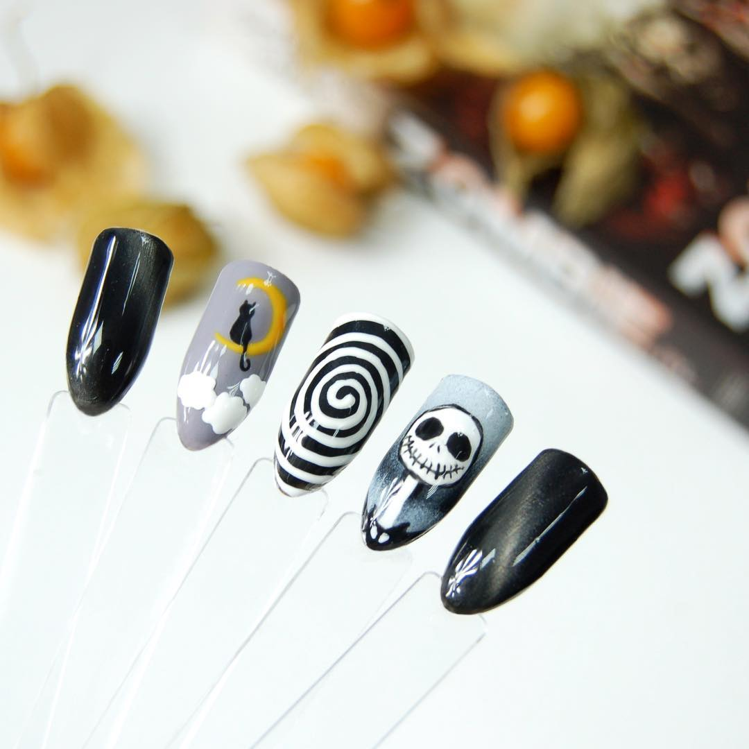 uñas de halloween acrilicas